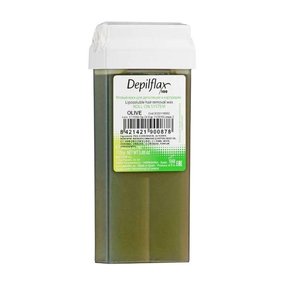 Воск DEPILFLAX цветной 110г OLIVE