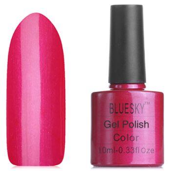 Гель лак Bluesky 80507- Красно-малиновый с микроблестками