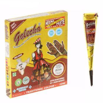 Хна для рисования Golecha золото