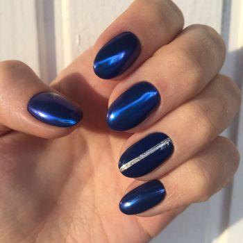 Втирка для ногтей синяя 10