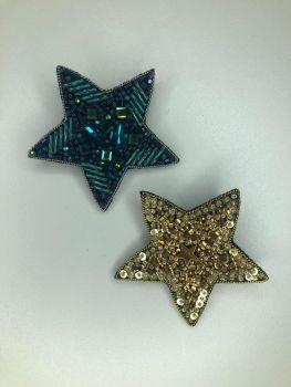 Брошь из бисера звезда маленькая