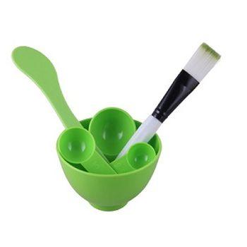 Набор (миска, кисточка, шпатель, ложка) маленький