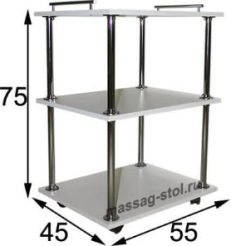 Столик-тележка косметолога Комфорт модель №2 XL